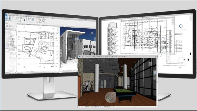 revit 2019 multi-monitor